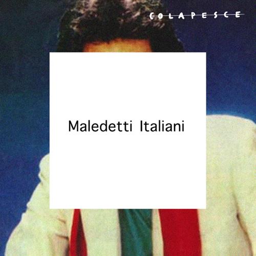 """Artwork del singolo """"Maledetti italiani"""", pubblicato in Egomostro, secondo album di Colapesce, del 2015. È una rielaborazione della cover di """"The Next Day"""" di David Bowie, realizzata da Jonathan Barnbrook. Al posto dell'opera originale - la cover di """"Heroes"""" del 1977 realizzata da Masayoshi Sukita, c'è l'immagine cover di una nota pagina Facebook, """"La stessa foto di Toto Cutugno ogni giorno""""."""