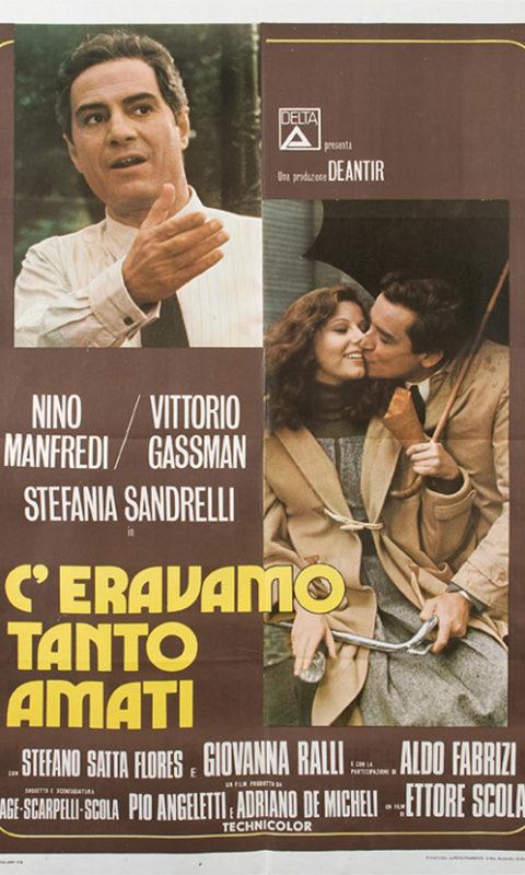 """Locandina di """"C'eravamo tanto amati"""" di Ettore Scola (1974)."""